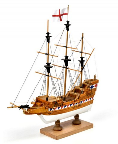 Model lodi Elizabethan Galleon - First Step, stavebnice modelu lodi Amati