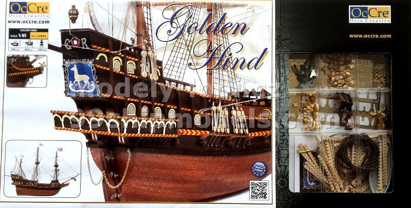 Model lodi Occre Golden Hind - balení